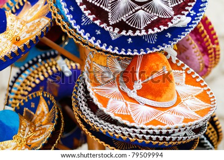 Traditional colorful mexican sombrero hats for sale