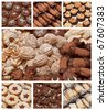 traditional cookies and sweets collage - stock photo