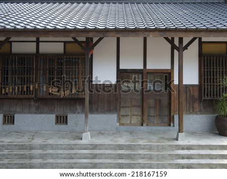 traditional corridor - stock photo