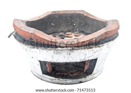 Traditional cray stove - stock photo