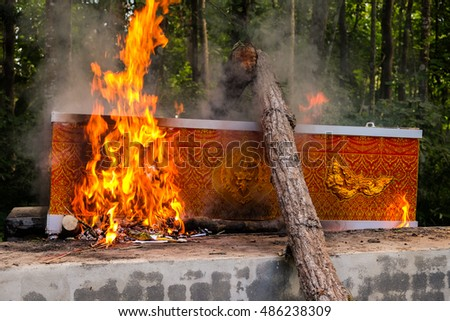 Traditional cremation