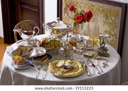 Traditional Czech cuisine - stock photo