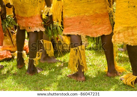 traditional dancers, PNG - stock photo
