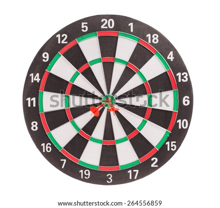 Traditional dart board. Isolated on a white background.