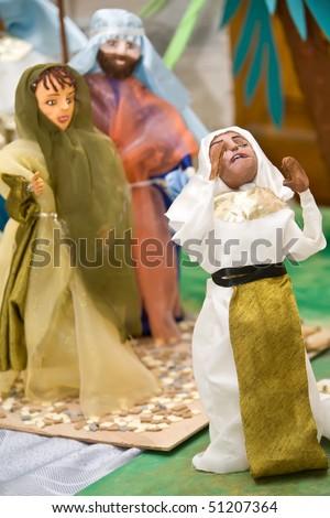 Traditional dolls illustrating jewish religion Pesah celebration - stock photo