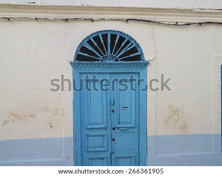 Traditional door in the Medina of Tunis, Tunisia. - stock photo