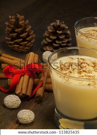 Traditional eggnog II - stock photo
