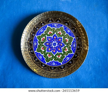 Traditional embossing plate of Asia - stock photo