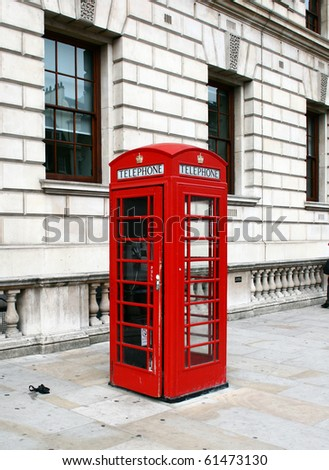Traditional English call box - stock photo