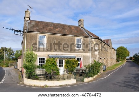 Traditional English Country Pub - stock photo