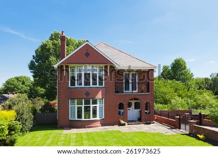 Traditional english detached house - stock photo