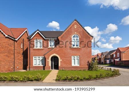 Traditional english house - stock photo