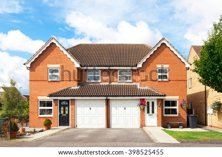 Traditional english semi detached house