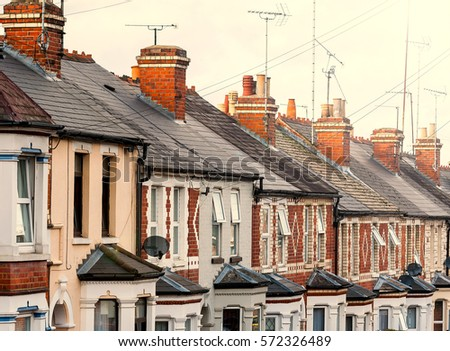 Traditional English terraced houses