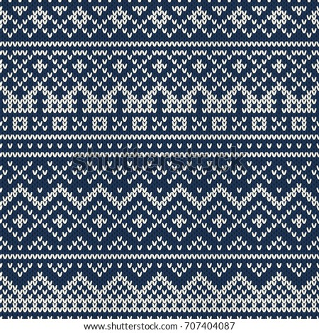 Traditional Fair Isle Style Seamless Knitting Stock Illustration ...