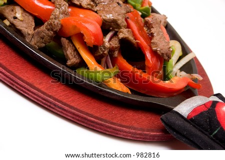 traditional fajitas details