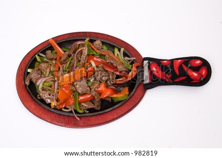 traditional fajitas isolated