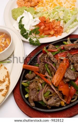 traditional fajitas (meal) - stock photo