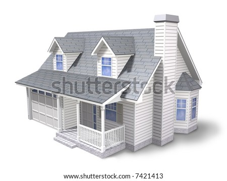 Traditional family house - stock photo