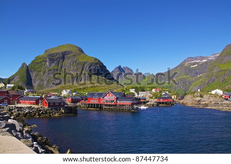 "Traditional fishing village ""A i Lofoten"", Norway, in summer"