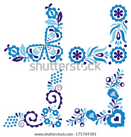 Traditional folk ornaments (Vector version is also available in my portfolio, ID 102890597) - stock photo