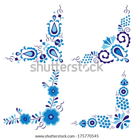Traditional folk ornaments (Vector version is also available in my portfolio, ID 104302247) - stock photo