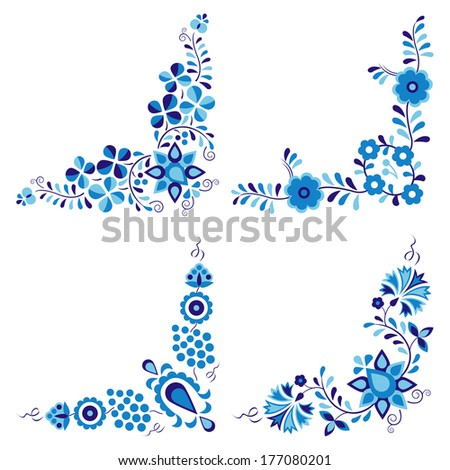 Traditional folk patterns  (Vector version is also available in my portfolio, ID 109492397) - stock photo