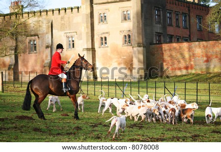 TRADITIONAL FOX HUNTING NOW BANNED - stock photo