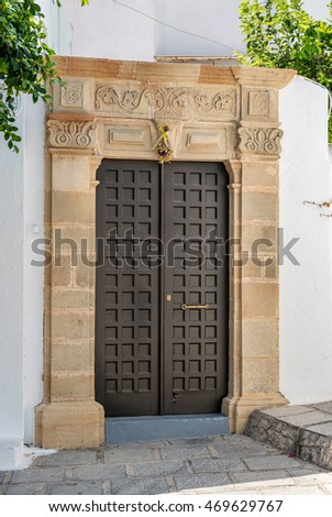 Traditional Front Door Lindos Village Rhodes Stock Photo Edit Now