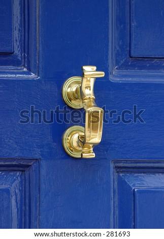 Traditional Georgian Door Knocker - stock photo