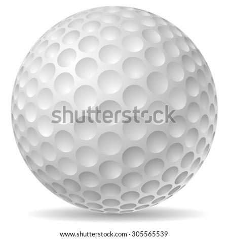 Traditional golf ball illustration. - stock photo