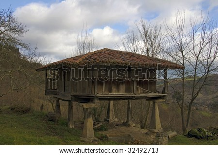 Traditional granary in Asturias, Spain