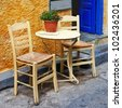 traditional Greece series - small tavernas - stock photo