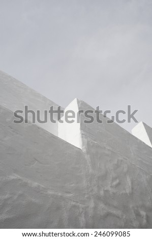 traditional greek architecture - stock photo