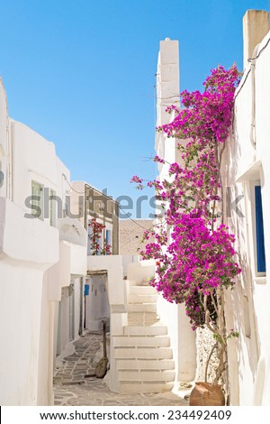 Traditional greek architecture on Cyclades islands, Greece - stock photo
