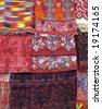Traditional Greek bedding / blankets - stock photo