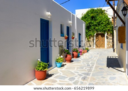 Traditional Greek Houses beautiful architecture building exterior santorini greece stock
