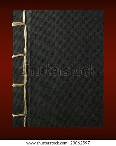 traditional hand bound japanese book - stock photo
