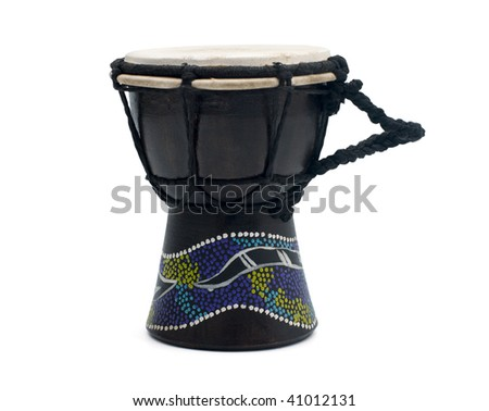 Traditional hand drum - stock photo