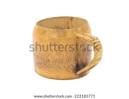 Traditional handcrafted mug cup perfect for tea, coffee or beer - stock photo
