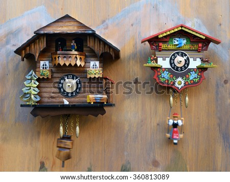 Cuckoo clock stock images royalty free images vectors shutterstock - Colorful cuckoo clock ...