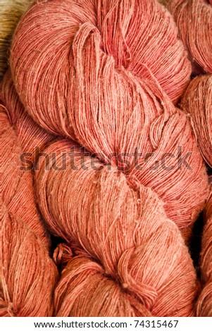 Traditional Handmade cutton yarn in Thailand - stock photo