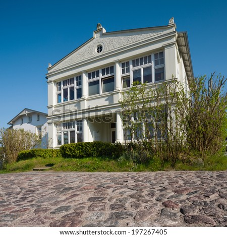 Traditional holiday villa on island Rugen on the Baltic sea