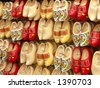 Traditional Holland shoes - stock photo