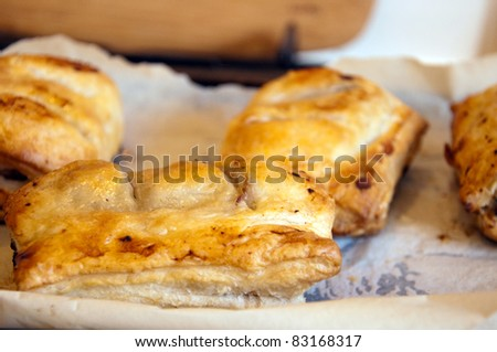 Traditional Home Made Sausage Rolls straight out of Oven
