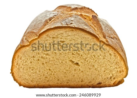 Traditional homemade bread isolated on a white. Clipping path included.