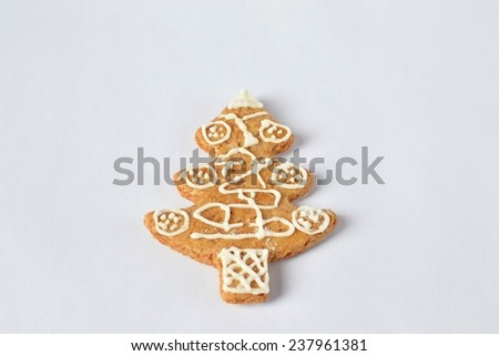Traditional homemade Christmas cookies. honey gingerbread. - stock photo