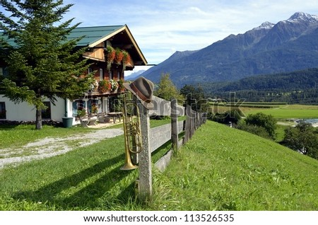 Traditional house in Tirol - stock photo