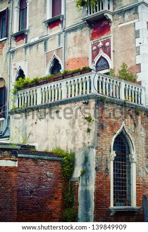 Traditional house in Venice, Italy