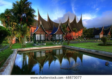 Traditional House in West Sumatera, Indonesia